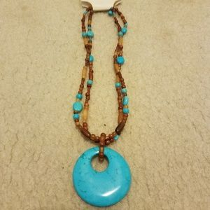 Coldwater Creek Genuine Turquoise Necklace